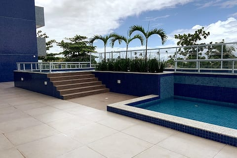 1/4 with swimming pool - 100m from the sea