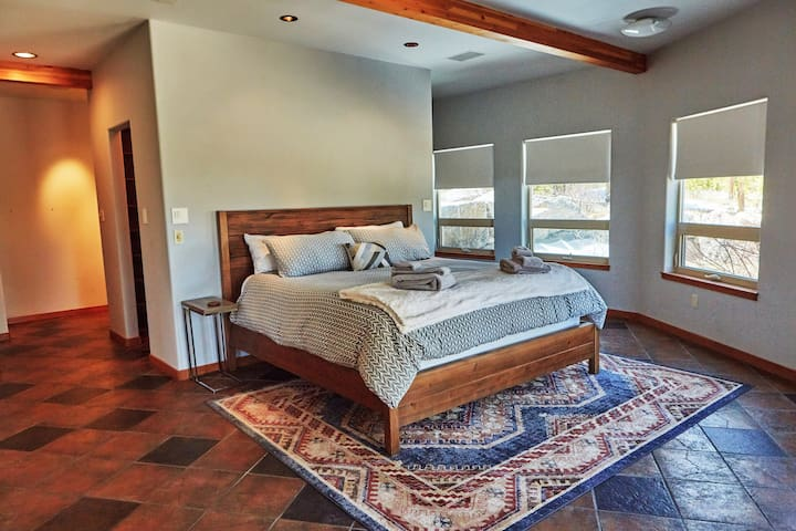 Spacious Master Bedroom with a King Bed.