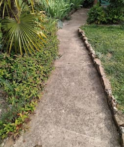 path to entrance