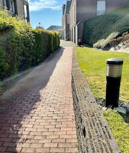 Well Lit Pathway from car park with wide path