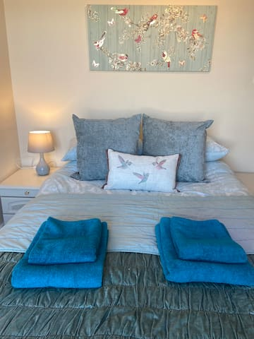 Luxury towels and bed linen provided as standard