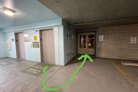 Elevator to entrance