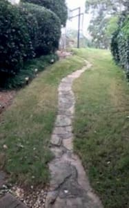 Pathway to apartment entrance