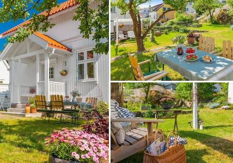 Charming villa on Kråkerøy, 4 bicycles+bicyclecart