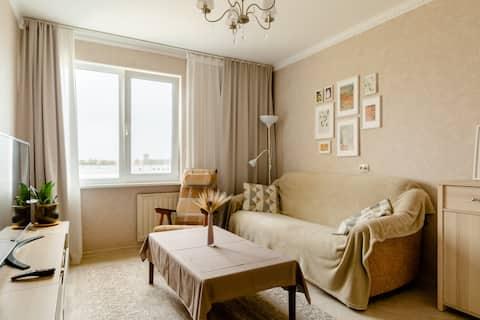 Two-room apartment in Peterhof