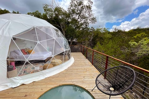 Habibi: Luxury Glamping in Treetop Dome + Dip Pool