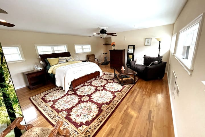"""Upstairs """"Wind"""" themed master suite"""