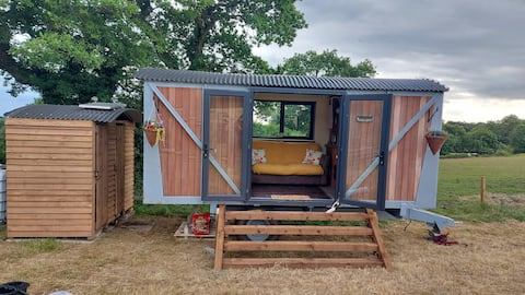 Off grid converted railway carriage
