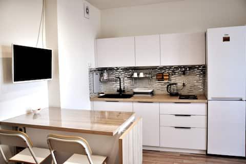 Modern studio apartment with panoramic view