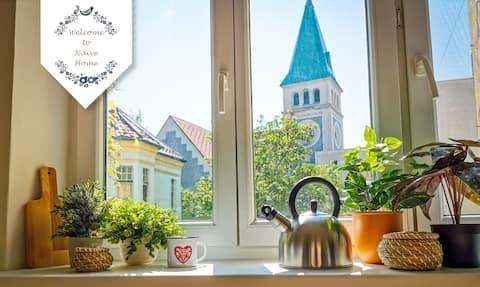 בית עממי נאיבי במרכז ברטיסלבה, נוף יפה