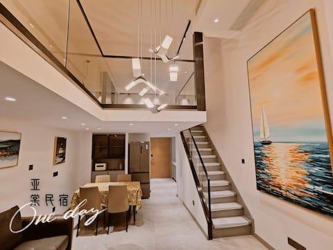 【亚棠@ATang】文艺/轻奢/投影/可做饭/21年新装/1872花园坊loft公寓/万象城/摩天轮