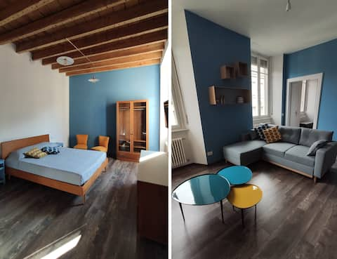 Lake in Blue - XL, large apartment in Como
