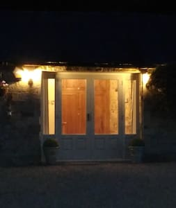 The cottage is well lit