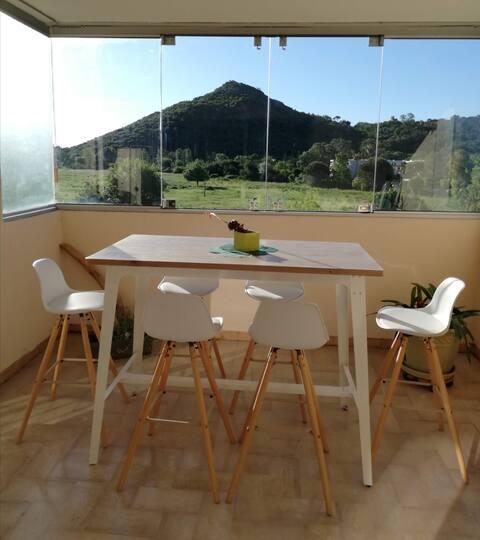 Beautiful 2P Flat Luminus,Nature view,Terrace