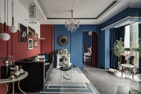 「一半·摩洛哥III」沉醉于漫天的蓝色空间内,100寸超大投影,近春熙路太古里