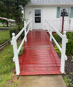 This is the ramp which goes into the back door, enters in at the laundry room with a right turn into the kitchen.
