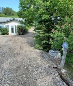 Smooth gravel driveway