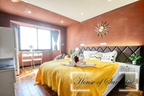 [Sunshine House] King size bed near Zhongshan Park