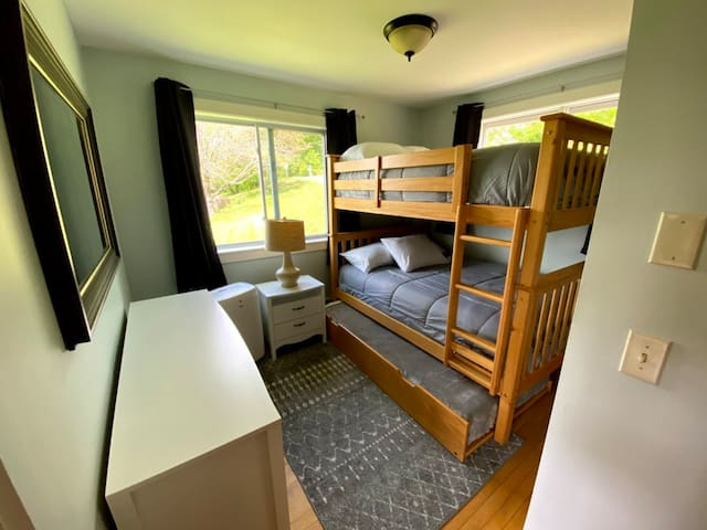 Second bedroom with trundle and dedicated portable air conditioner