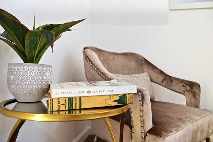 Long day exploring all Reno has to offer? Sit back and relax in our cozy reading nook with some of our favorite reads.