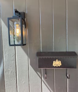 Porch light is always on.