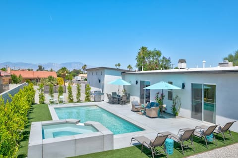 Brand new pool home with mid-century vibe.
