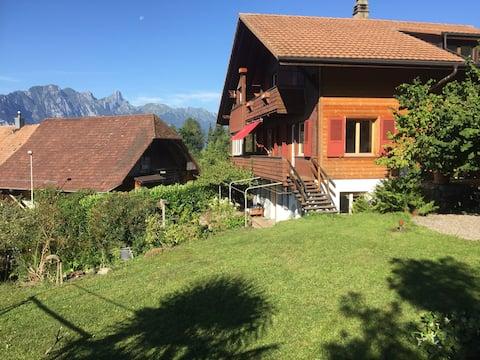 Gemütliche Wohnung mit Garten und grosser Terrasse