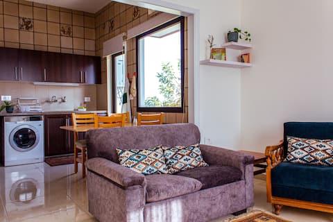 Уютная квартира с 1 спальней и садом и барбекю