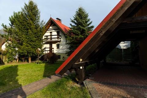 Dom całoroczny z kominkiem Małe Swornegacie