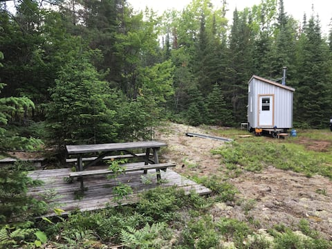 Riverside Tiny House, in a Forest Glade