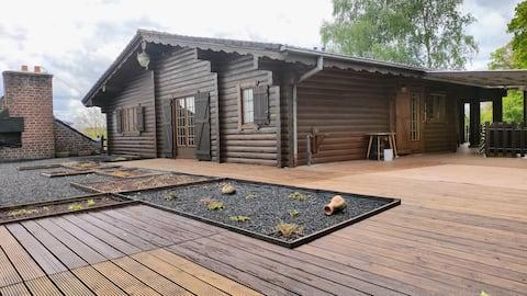 nordic houten huisje