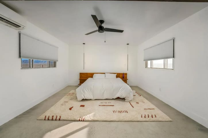 Main House: Master bedroom with king bed
