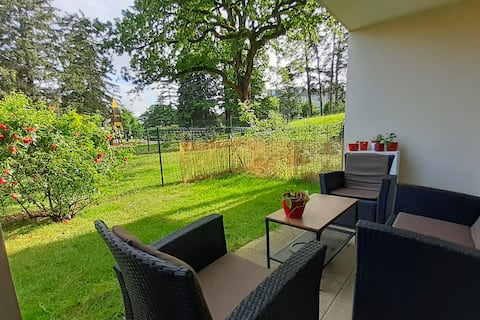 Apartment T2 with Garden 15 min BUS from Geneva