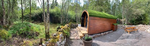 NC500 Base Camp. Glamping Pod surrounded by nature