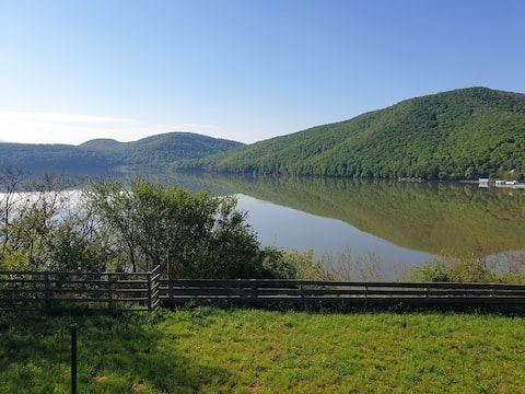 Amazing Panoramic View of Calinesti Oas Lake
