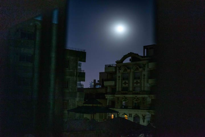 Moon view from your bedroom