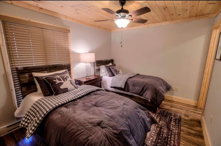 Secondary Bedroom with two twins.  Ultra soft bedding and memory foam mattress AND pillows!