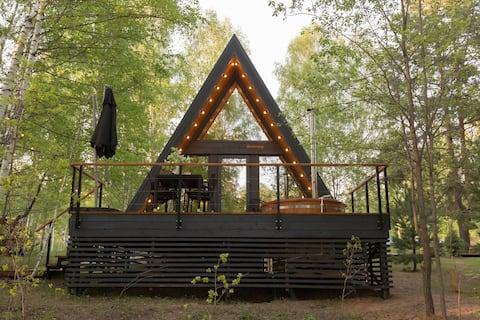 KedrCamp - дом A-frame в лесу ( 40 км от Уфы)