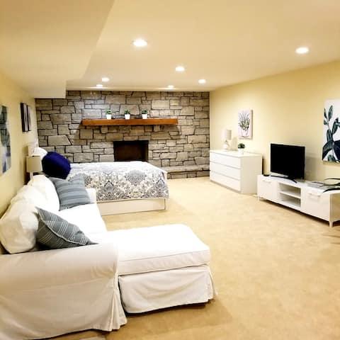 A Suite Retreat: Huge Bedroom, Bath & More!