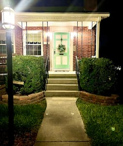The exterior lights automatically turn on at sunset and turn off just after midnight.