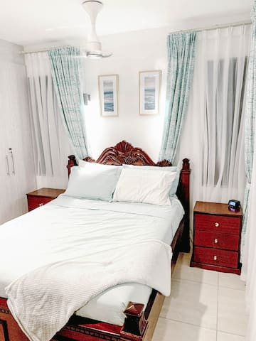 Guest BR  Left Wing - Enjoy Queen Size Bed with 1000TC Luxury Performance Cotton Rich Sheets, Cumulus Lightweight Comforter by Slumber Cloud, and i-Comfort Medium Mattress by Kenya's Furniture Palace