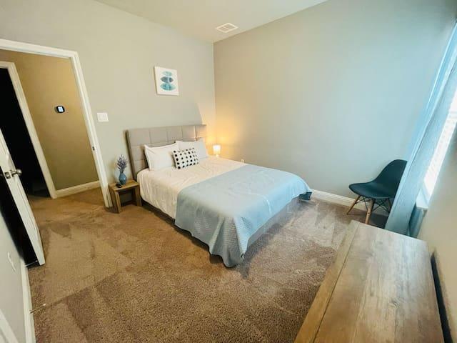 Bedroom #3 - Queen Bed and TV