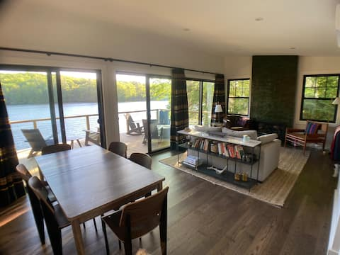 Berkshire lakefront cabin with modern luxuries