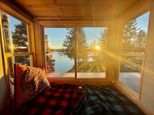 bedroom #1 window seat