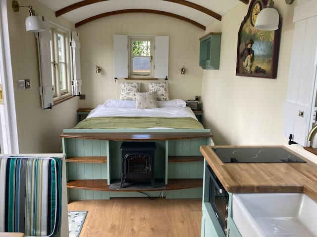 The comfortable king sized bed - just right for a restful night's sleep