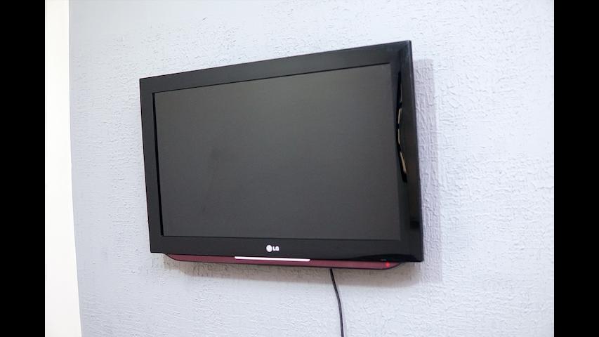 TV com canais digitais.