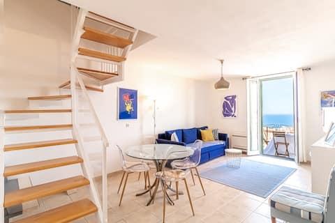 Nice duplex with terrace & sea view - Near Monaco