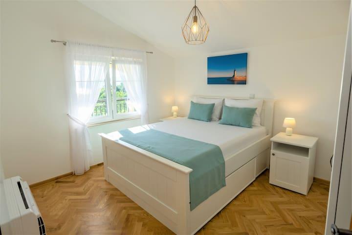 Master bedroom, first floor.
