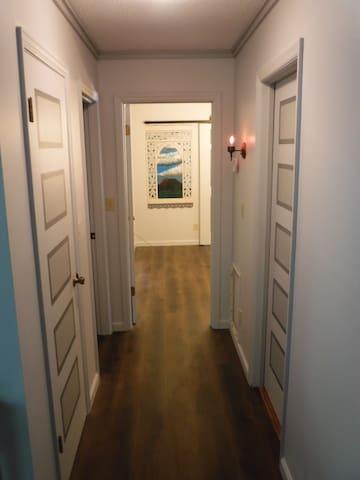 Hallway View into Bedroom #3
