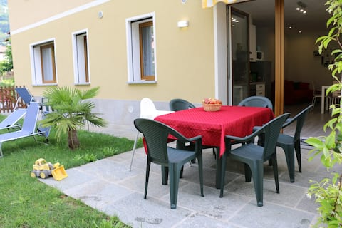 family-friendly apartment with garden